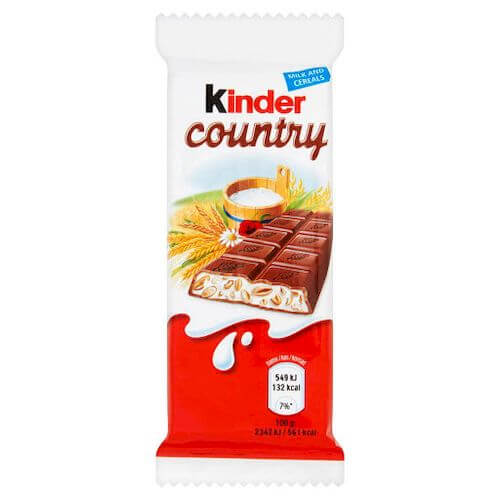 ,Kinder Country 1 szt., 23,5g,a40.
